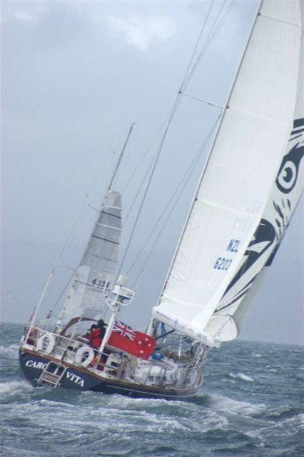 Jo Ivory and Steff Wanders in 2011 North Island Yacht Race in the boat Flying Moa