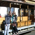 Wintec Film Graduates Lisa Brown and Deborah Fitzherbert hitch a San Fran Cable Car ride
