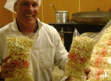 Bill Neal with his new snack sensation - kettle corn.