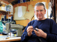 Terry Marshall sews up a storm