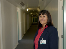 Rae Timue is a receptionist at the Hilda Ross House at Waikato Hospital, Hamilton.