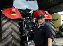 Kalving SIngh with the Invention of the Year from last year's Fieldays