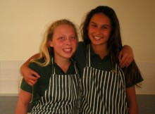 Young cooks - Nicole Fletcher (left) and Celine McGahan are determined to become the best in the school.