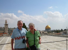 Martin and Lois Griffiths during travels in Israel and West Bank