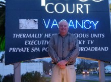 Cause for concern - Best Western Capri Court manager Glenn Brooks says the break-ins have been unnerving.