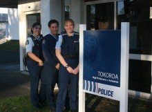 HITTING THE BEAT: New Tokoroa police officers are excited to be working in a small community. From left, Lania Day, Sheryl Fitzgerald and Katharine Lemmè