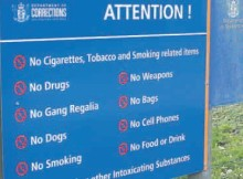 Stubbed out: Cigarettes are banned at Waikeria Prison.