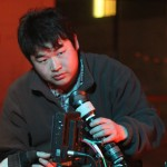 High hopes: Cinematographer Sam Li, centre, and focus puller Joel Comer hope their film will make it to overseas festivals. Picture: supplied.