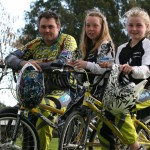 HOT WHEELS: Hamilton BMX riders Paul Lutterull, Kaly Harcourt and Baylee Lutterull were successful at the world championships in Copenhagen