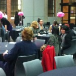 About 25 students attended the first women-only Schmooze to discuss career paths recently