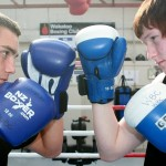 Gloves Up: Cory Miles (left) and Phillip Jenions, are confident about stepping into the national ring at the New Zealand boxing championships in Lower Hutt this week.
