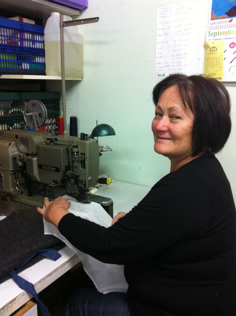 Sewing on: Dot Hunter has reopened her business after losing everything to a tsunami