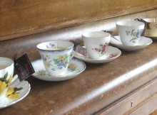Candlestick maker: Vintage teacup candles from Reloved Vintage.