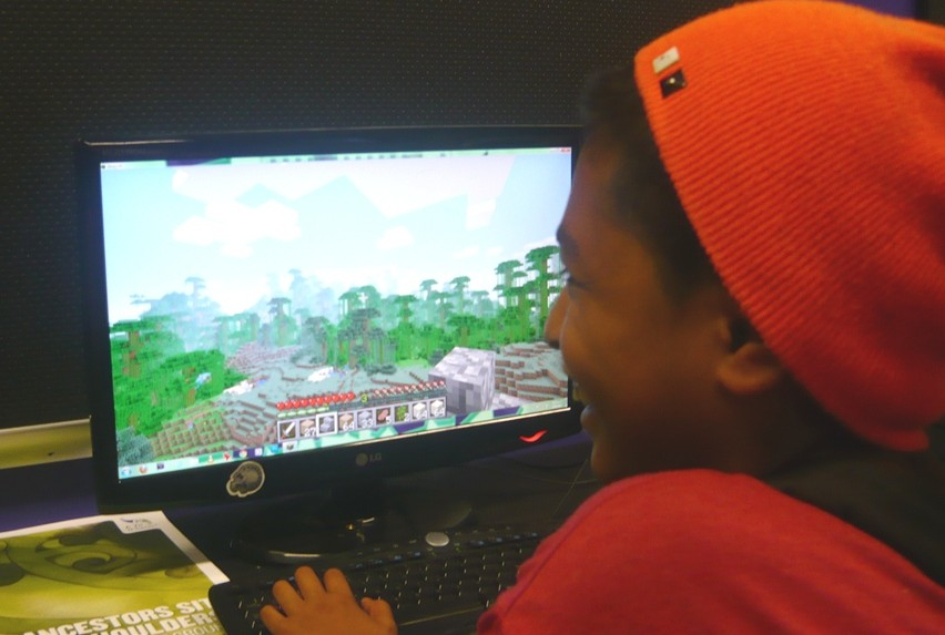 Building a future: Maka Phillips enjoys playing his own games.