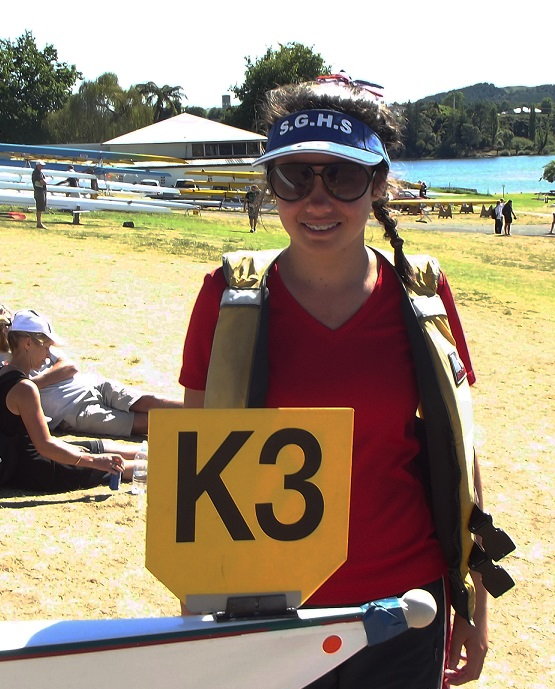 Happy: Eden Cross with her boat number Photo: Isabella Stern