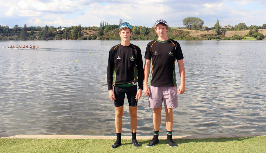 NEXT GENERATION: Rupert Jackman (left) and William Morris-Whyte are the next generation of rowers in their families. Photo: Sharn Roberts