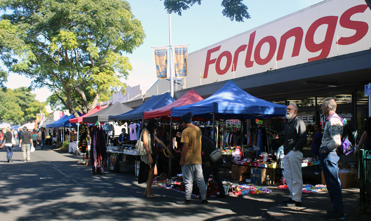 CONFRONTING CONFLICT: Frankton Market operates outside Forlongs as court battle approaches. Photo: Sharn Roberts