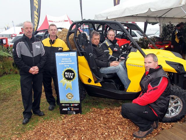 WINNERS: The Can Am team pose on their prize-winning display Photo:Cheryl Ward