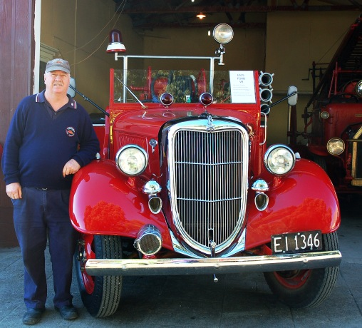 VINTAGE VEHICLES: Barry Martin stands next to his pride and joy, a restored 1935 Ford. Photo: Ciaran Warner