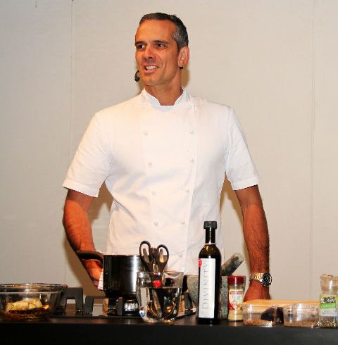 MASTER QUAIL: Josh Emmet cooks quail and snapper for his audience in the Kiwi Best Kitchen. Photo: Supplied