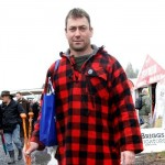 REAL FARMER: Mark McCarrick wears his farming attire to Fieldays. Photo: Lauren Bovair.d