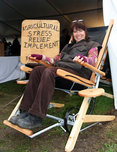 ROCK IT: Tracey Haskell loves her rocking chair so much she bought her dad one too. Photo: Cheryl Ward