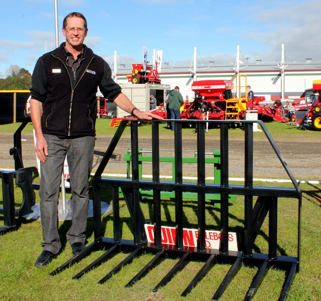 Alex Quinn at the Quinn Engineering Fieldays stall. Photo: Rebecca Watson