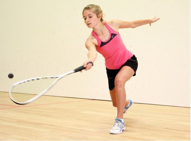 SQUASH CHAMP:  Hayley Hughes will represent NZ in the World Junior Squash Championships next month