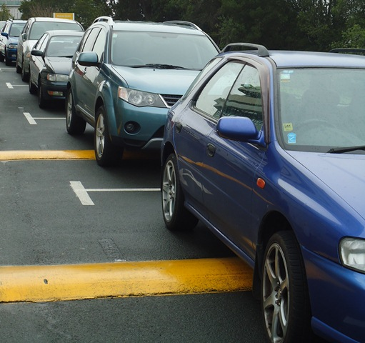 SMASH 'N GRAB: Cars parked at Wintec's city campus have been targeted by thieves. Photo: Libby Wilson