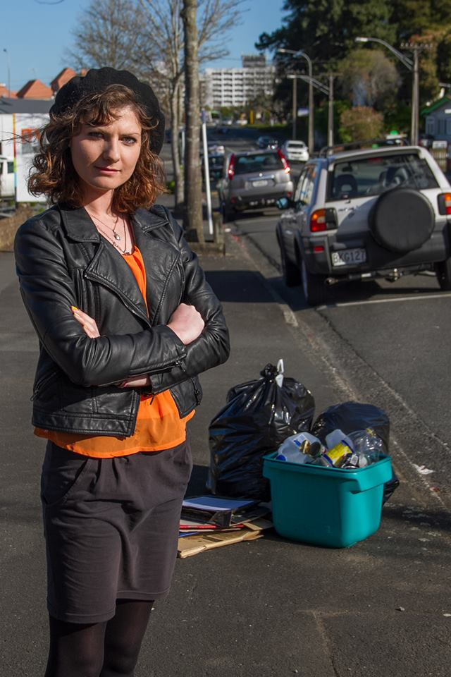 UNFAIR: Chloe Taylor and her flatmates never organise their recycling but it always gets collected. Photo: Carla Moulden.