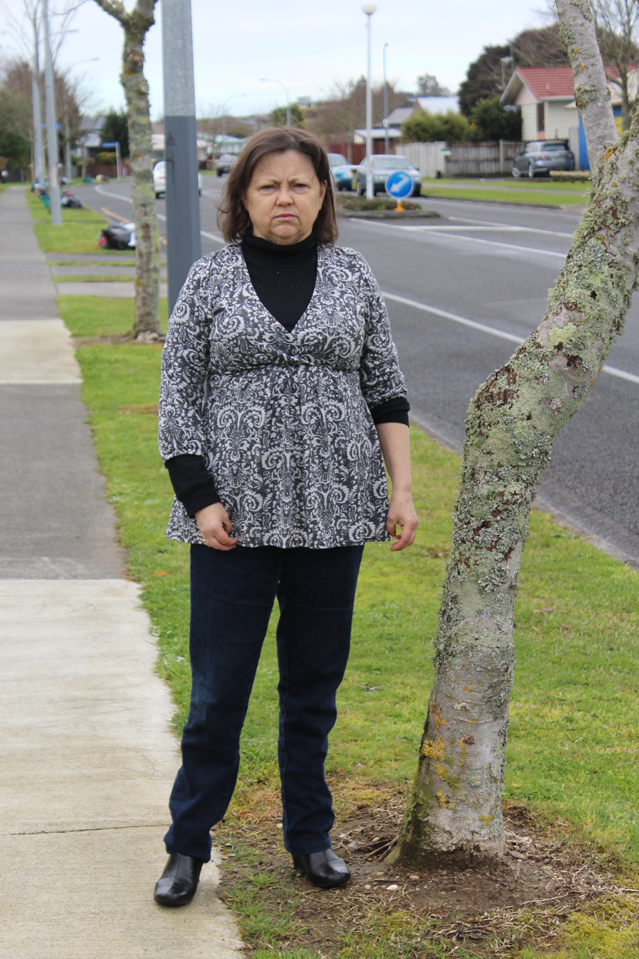 OVERGROWN ISSUE: Kaye Roberts says street trees where she lives overgrow and cause dangerous footpath cracks. Photo: Sharn Roberts.
