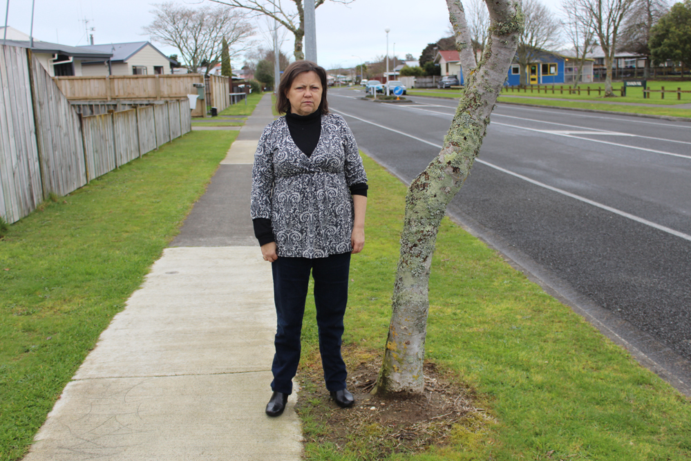 OVERGROWN ISSUE: Kaye Roberts says street trees where she lives cause dangerous footpath cracks. Photo: Sharn Roberts.