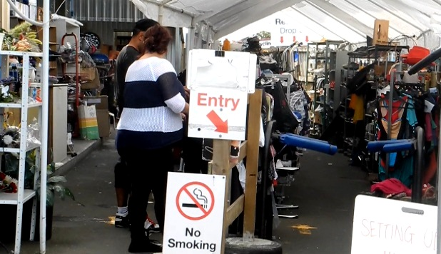 DUMP SHOP: Customers have got hooked on bargain-hunting at the Hamilton City recycling and refuse centre. Photo: Libby Wilson