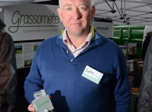 Dr Sam Hoste, commercial director of Grassometer, holds the Grassometer in his hands.