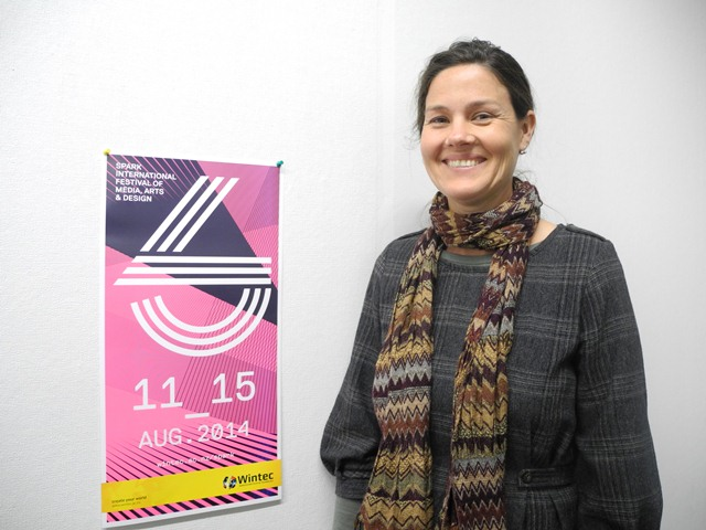 SPARK festival organiser Megan Lyon is delighted with the eye-catching fluro colours used in this year's promotional material.