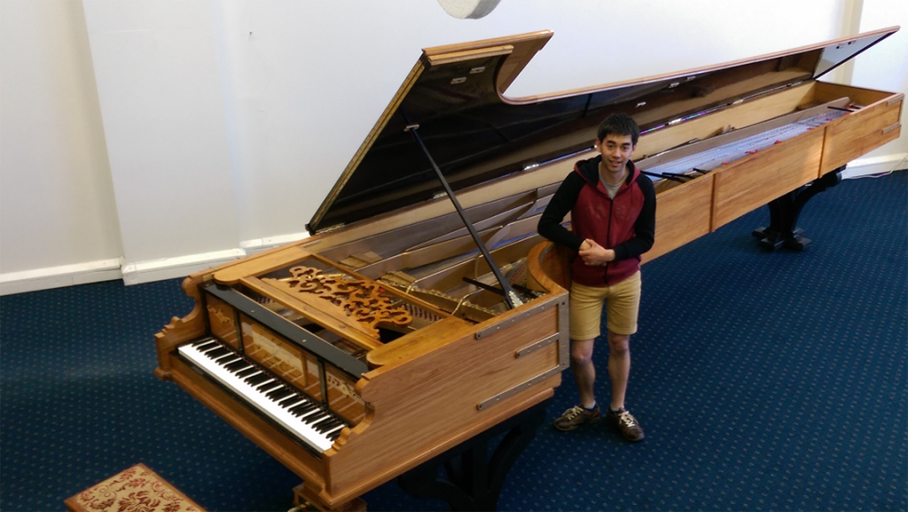Adrian Mann talks tonight about his journey building the world's largest piano. Photo: Rich Garratt