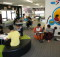 LOTS OF LEARNING:Making the most of their space with interactive learning. Photo: Supplied.