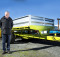 For Ag Attachments wholesale sales executive Martin Gray, Fieldays is all about explaining what the machines do, talking to contractors and dealers. Photo: Adam Edwards