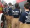 STUDENTS: Teens dressed in their fire fighter gear and ready to learn. Photo: Shontelle Cargill