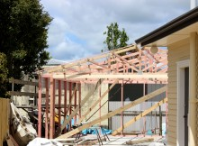 This year more building consents are being granted than in 2014 as a demand for houses increases. Photo: Christopher Reive