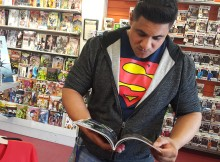 Above: Lifelong fan Keith Simran says Superman helped him become a better reader