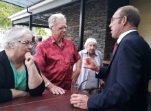 Andrew Little talks to local party supporters