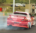 An S15 Silvia, driven by Graeme Smythe, performing a drift at Meremere Dragway. Photo: Ruwade Bryant.