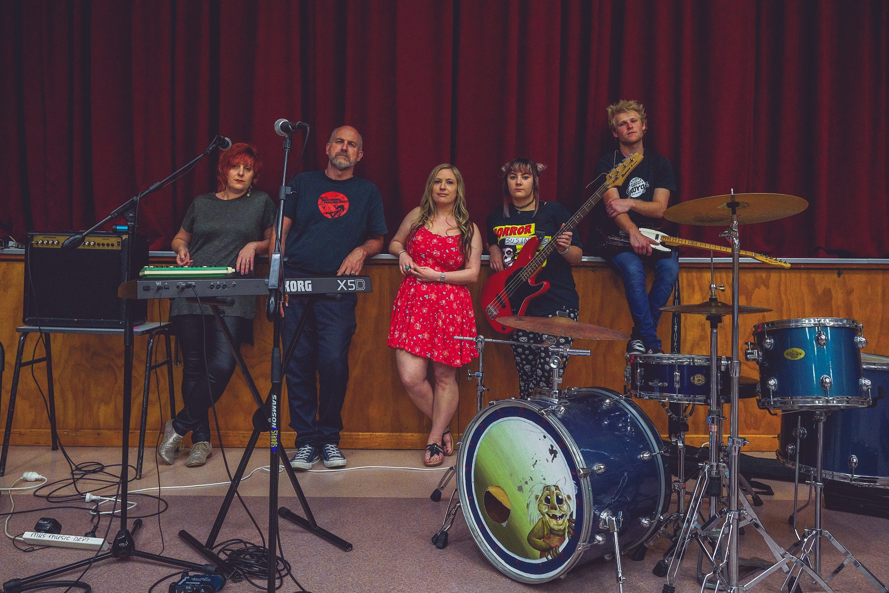 DateMonthYear band members Emma Koretz, Trevor Faville, Brooke Baker, Hayely Schwass and Tyler Leet. Photo supplied.