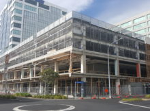 Construction is under way at the central Hamilton building which will house DHB staff. Photo: Cory Brown