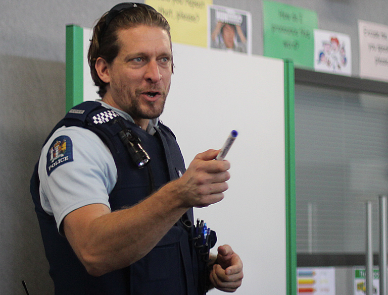 Rob Stanton is the face of the police force for refugees arriving in New Zealand. Photo: Farah Hancock
